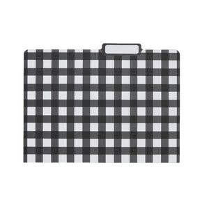 Otto Printed Manilla Folder A4 Black Check