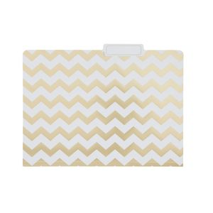 Otto Printed Manilla Folder A4 Gold Chevron