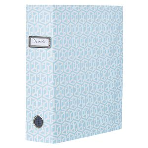 Otto Lever Arch Binder with Printed Spine Blue