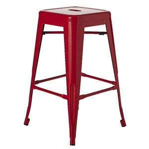 Tabouret Steel Stool Red