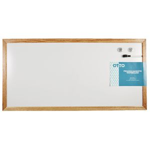 Otto Premium Magnetic Whiteboard 90 x 45cm Oak