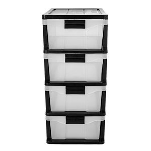 Simply 4 Drawer Storage Cabinet Black