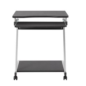 Inabox Alfi Mobile Desk & Bookcase Black