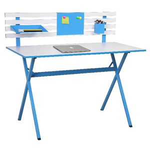 Ally Hutch Desk Blue