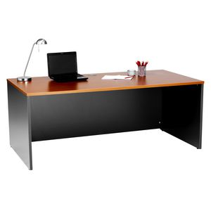Office Additions Apex 1800mm Desk Cherry Grey
