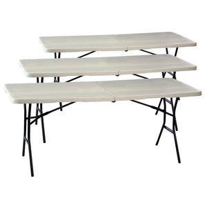 Lifetime 6FT Bi-Fold Table Grey X 3