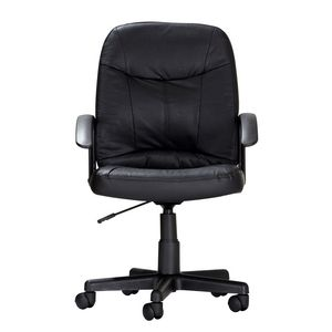 Inabox Carmody Medium Back Leather Chair Black