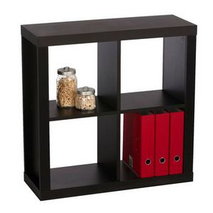 Inabox Cluedo 4 Cube Storage Unit Black