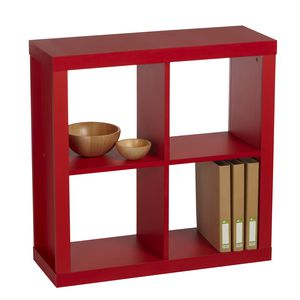 Inabox Cluedo 4 Cube Storage Unit Red