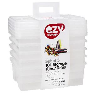 Ezy Storage 10L Storage Containers 5 Pack