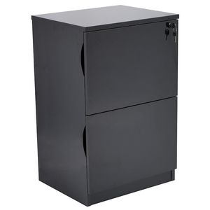 Forbes 2 Drawer Black High Gloss Filing Cabinet
