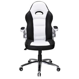 Hummingbird Le Mans Racer Executive High Back Chair Black/Wh