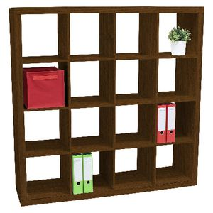Malmo 16 Cube Bookcase Walnut