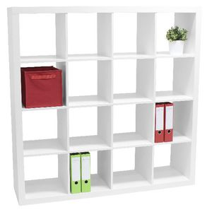 Malmo 16 Cube Bookcase White