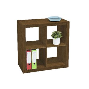 Malmo 4 Cube Bookcase Walnut