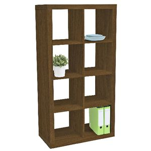 Malmo 8 Cube Bookcase Walnut