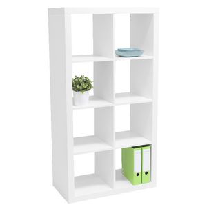 Malmo 8 Cube Bookcase White