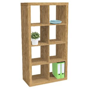 Malmo 8 Cube Bookcase Unit Oak