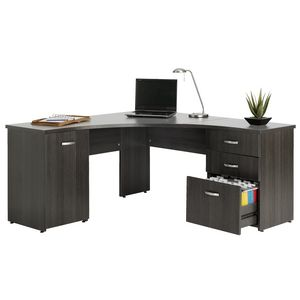Malvern Willows Merge Corner Workstation Silver Charcoal
