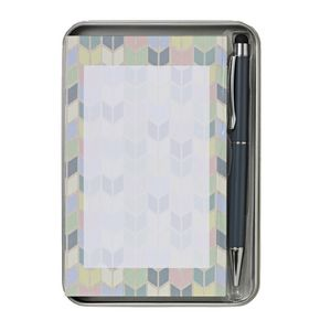 Otto A6 Notepad and Pen Tin Set Feather
