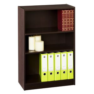 Nevada Bookcase Three Shelf - Chocolate