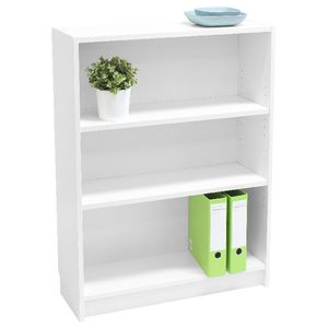 Orson 3 Shelf Bookcase White