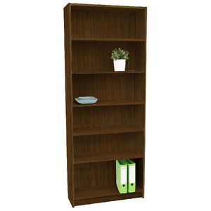Orson 6 Shelf Bookcase Walnut