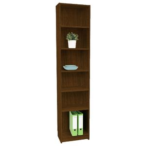 Orson 6 Shelf Slim Book Walnut