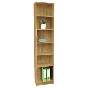 Orson 6 Shelf Slim Bookcase