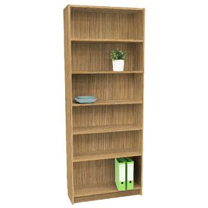 Orson 6 Shelf Bookcase Oak