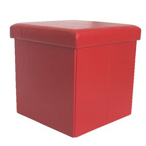 Storage Ottoman Red