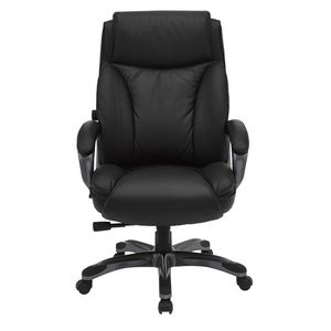 Cohen York Saville Leather Chair Black