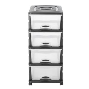 Storage Tower 4 Drawer On Castors