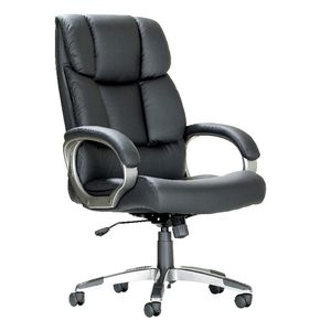 York High Back Plush Chair Black