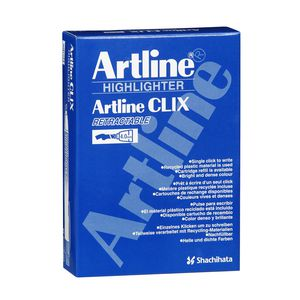 Artline 63 Clix Retractable Highlighters Yellow 12 Pack