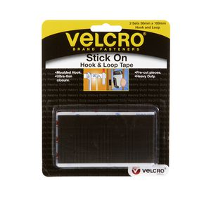 Velcro Heavy Duty STICK ON STRIPS H&L 2X50MMx100MM