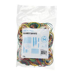 J.Burrows Size 14 Rubber Bands Assorted 100 g