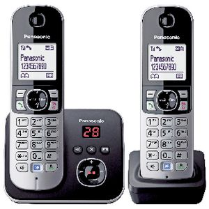 Panasonic TG6822ALB DECT Twin Cordless Phones