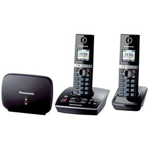 Panasonic Premium DECT KX-TG8032 Cordless Phone & Answering Machine +1