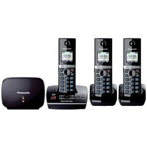 Panasonic KX-TG8033 Cordless Phone Answer Machine 3  Handsets