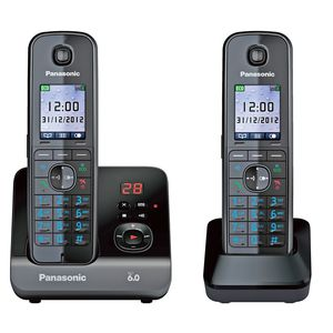 Panasonic KX-TG8162 Cordless Phone Answer Machine 2 Handsets