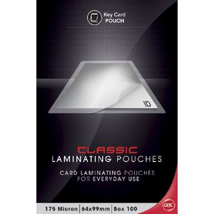 GBC Laminating Pouch 64 x 99mm 175 Micron Gloss 100 Pack