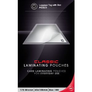 GBC Laminating Pouch 65x108mm 175 Micron Gloss 100 Pack