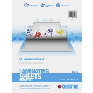 GBC Creative Instant Laminate Sheets A4 5 Pack