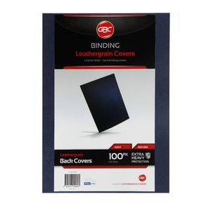 GBC Binding Cover A4 Leathergrain Navy 100 Pack
