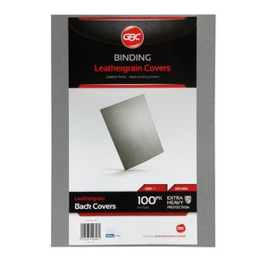 GBC Binding Cover A4 Leathergrain Grey 100 Pack