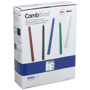 GBC Binding Comb 21 Loop Plastic 25mm White 50 Pack