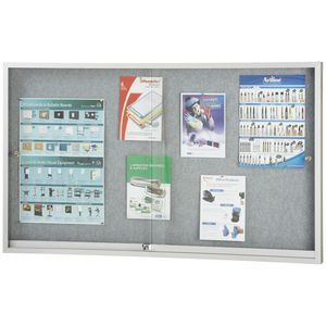 Penrite Lockable Fabric Noticeboard 1500 x 900mm
