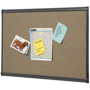 Quartet Prestige Graphite Corkboard 1200 x 900mm