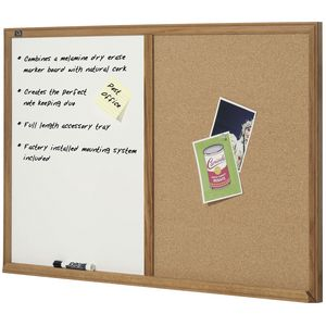 Quartet Cork/White Board Combo 1200 x 900 mm